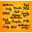 Halloween Gold Lettering Design vector image