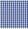 Blue check plaid seamless fabric texture vector image