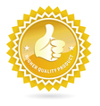quality mark vector image
