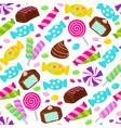 lollipop caramel candy seamless pattern vector image