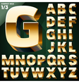 Set of golden 3D alphabet vector image