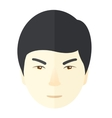 Angry japanese guy vector image