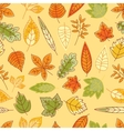 Colorful autumn leaves seamless pattern vector image vector image