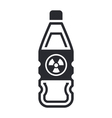 nuclear waste in bottle vector image vector image