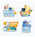 Design template with school emblem sets vector image