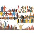 Foreground people vector image