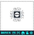 Gpu icon flat vector image