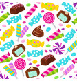 lollipop caramel candy seamless pattern vector image