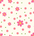 Seamless pattern pink and yellow flowers with vector image