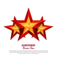 Three Achievement Stars Realistic Sign vector image