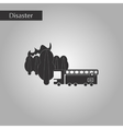 black and white style icon Forest fire truck vector image