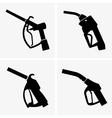 Gas pump pistol vector image