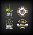 Menu mexican logo and badge design vector image vector image