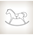Rocking Horse on a Light Background vector image