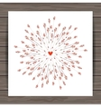 Valentines day cards with heart and arrows vector image