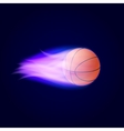 Basketball Ball On Fire vector image