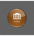 Museum application icons vector image
