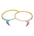 pair blank speech bubble vector image