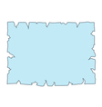 Parchment paper Empty cartoon banner vector image