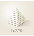 Pyramid shape abstract symbol vector image