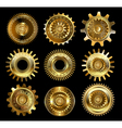 Set of Complex Gears vector image