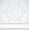 Snowflake with white banner Background for winter vector image