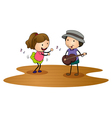 kids playing guitar vector image vector image