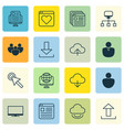 set of 16 web icons includes computer network vector image