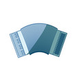 blue shading silhouette of accordion icon vector image
