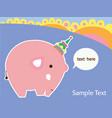 cute elephant vector image