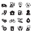 ecology save the world icons set vector image