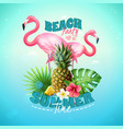 beach party background vector image