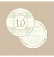 round vintage card vector image