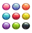 Colorful round buttons set vector image