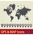 World map GPS vector image