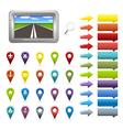 GPS Navigation Icons vector image