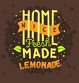 homemade lemonade typographic logo label type vector image