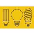 Three thin line lamp icons vector image