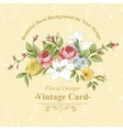 Vintage greeting card with flowers vector image