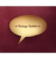 Vintage paper bubble talk vector image