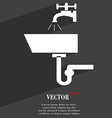 Washbasin icon symbol Flat modern web design with vector image