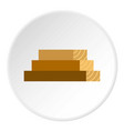 wooden boards icon circle vector image