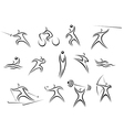 Set of sports symbols and pictograms vector image