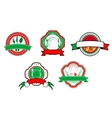 Italian food banners and labels vector image vector image