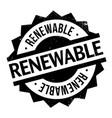 renewable rubber stamp vector image