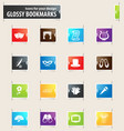 theater bookmark icons vector image