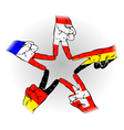 Peace Sign of the German Austrian Dutch Swiss vector image vector image