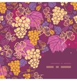 Sweet grape vines corner frame pattern background vector image