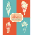ice-cream set vector image