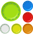 disposable plates vector image vector image